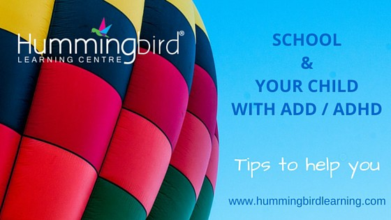 Tips for parents of students with Add / ADHD