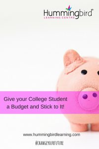 Money matters in college