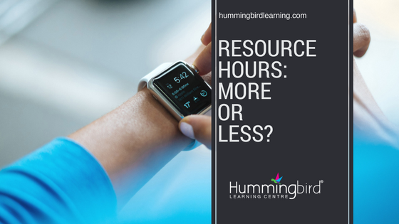 reducing resource hours