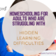struggling with learning difficulties